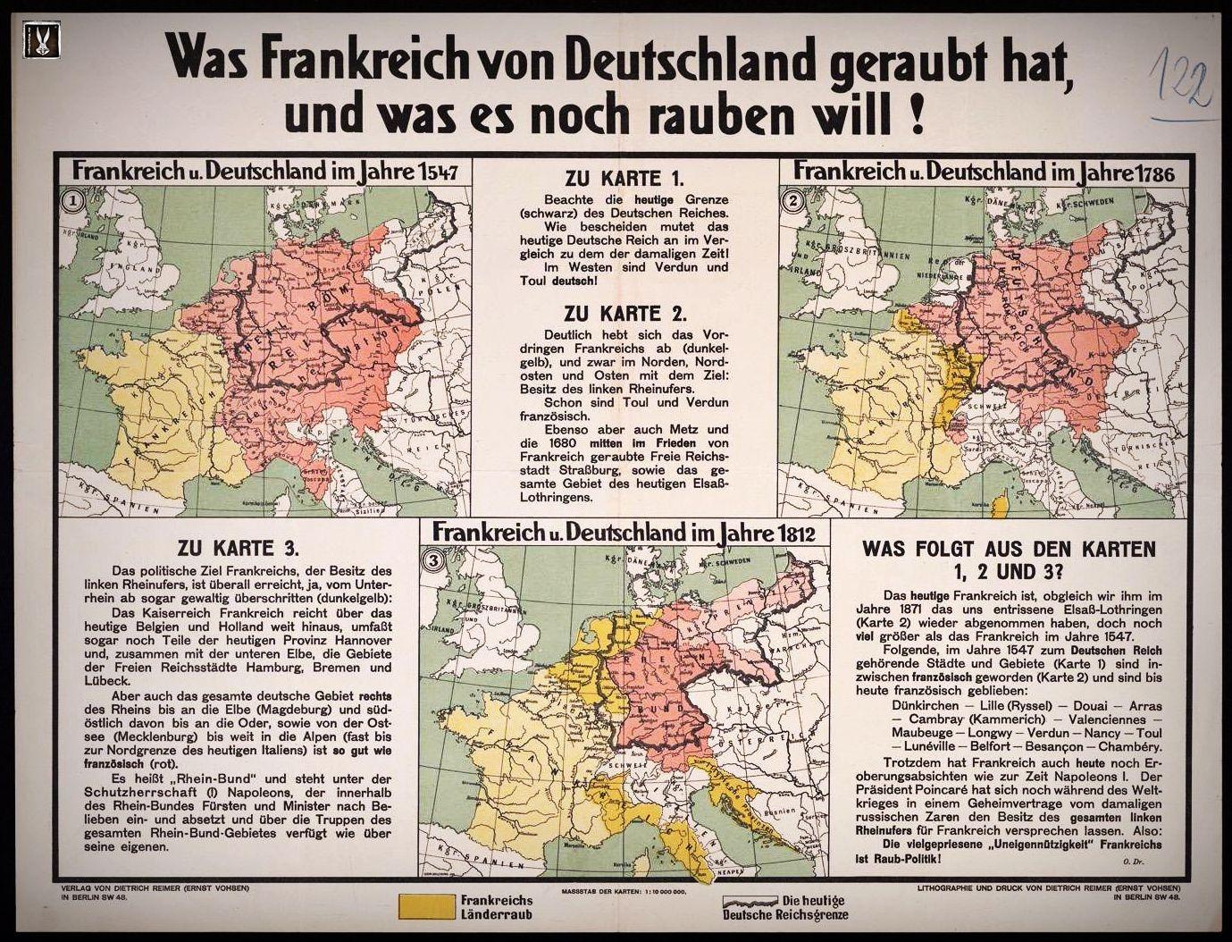 Deutschland Frankreich Karte.Karte 1 Frankreich Und Deutschl Deutschland Bismarck Weimar