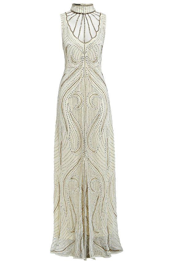 Florence Off White Fler 1920s Great Gatsby Inspired