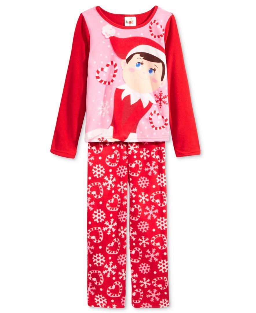 The Elf on the Shelf 2-pc Fleece Pajama Set Size 4 Red Pink