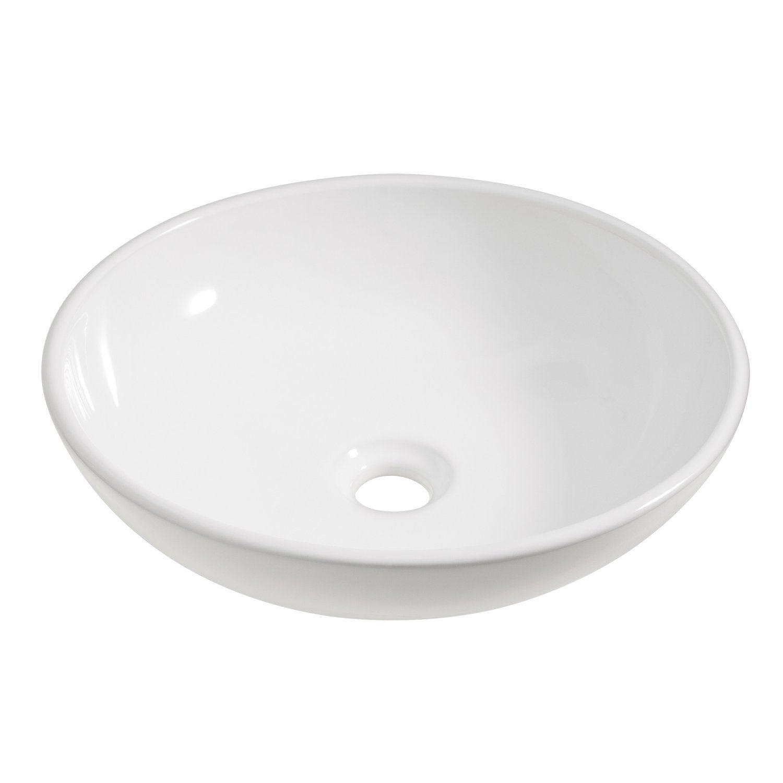 Abperl Effekt Obi Aufsatzwaschbecken ø 42 Cm Sola Weiß