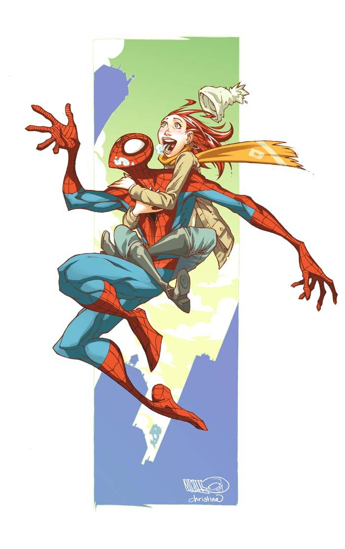 Spider-Man and MJ from DeviantArt artists CeeCeeLuvins and Micah Gunnell