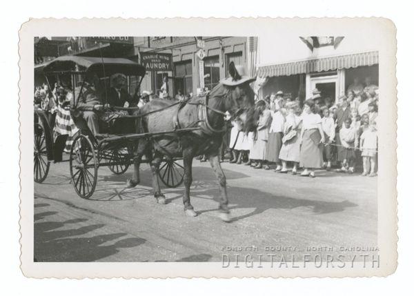 Forsyth County Centennial Parade On North Main Street 1949