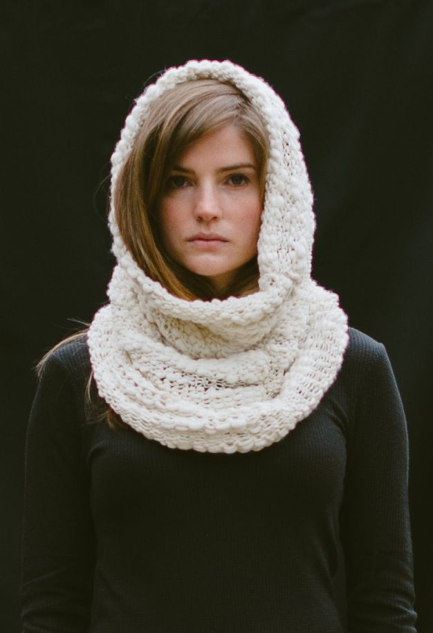 knitted snood for winter