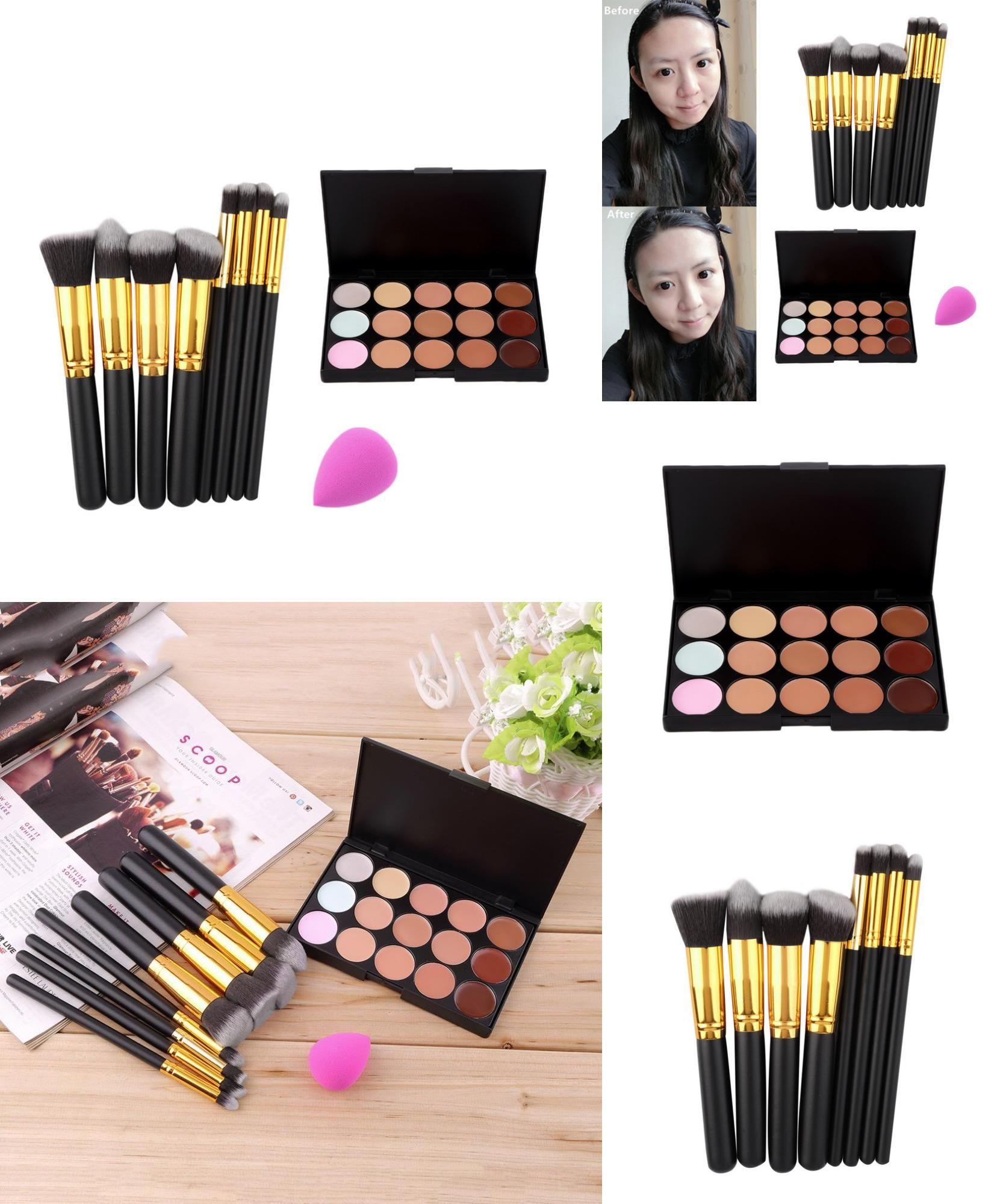 [Visit to Buy] 8PCS Makeup Brushes Cosmetics Eyeshadow