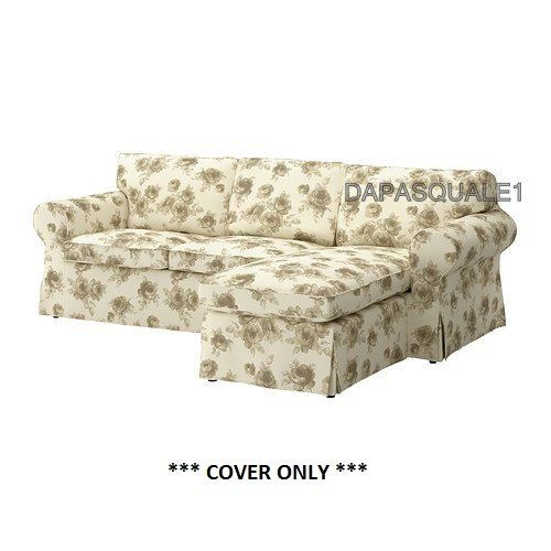 Ikea Sofa Bed · IKEA EKTORP   Cover For Loveseat With Chaise Norlida White  Beige (cover Only)