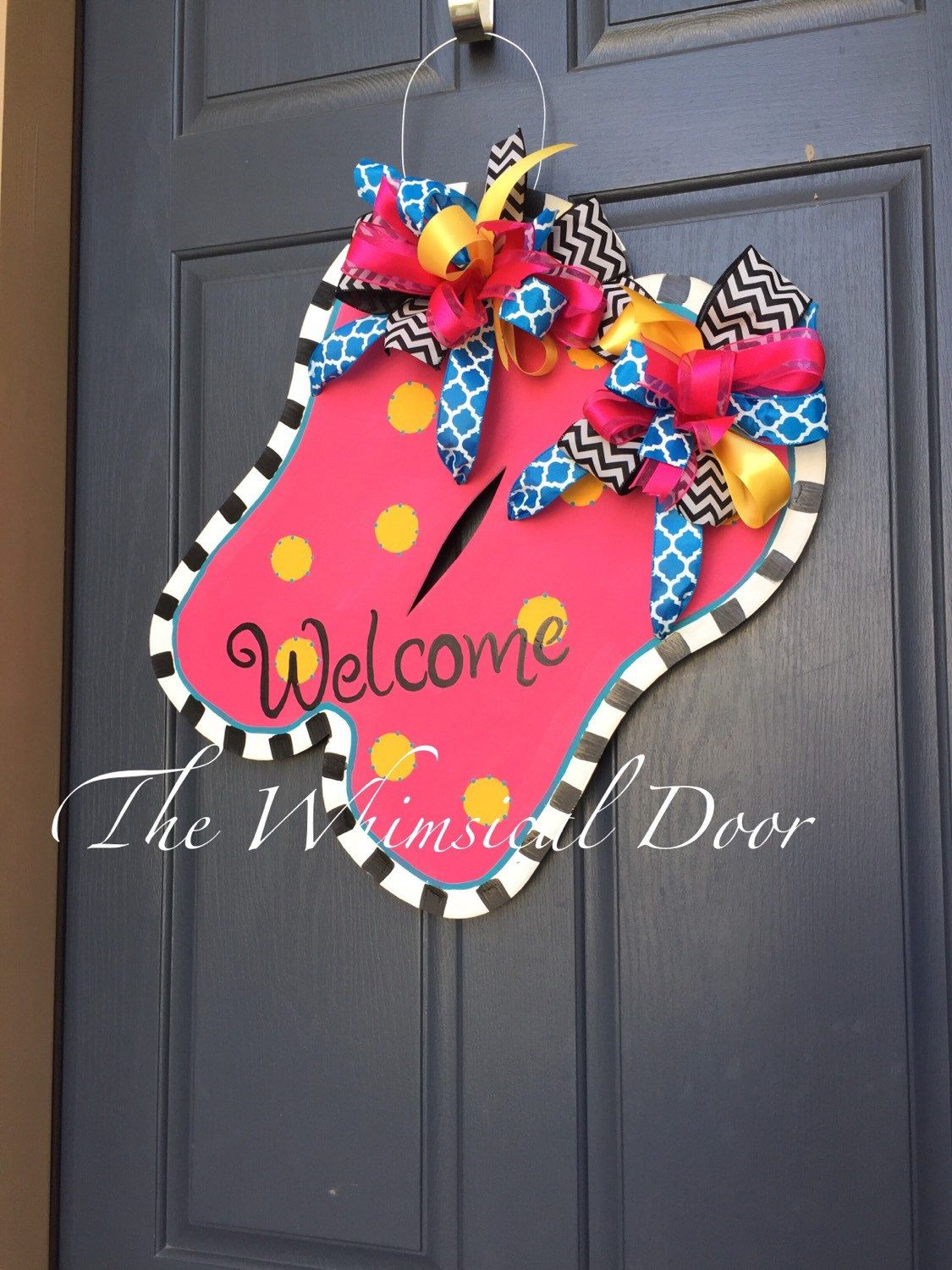 Flip Flops Door Hanger Flip Flop Wreath Celebrate Summer With This Festive Flip Flops Door