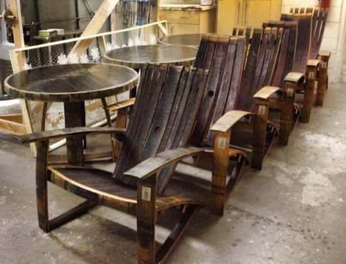 Whiskey Barrel Adirondack Chairs - Handmade Whiskey And Wine Barrel  Recycled Furniture