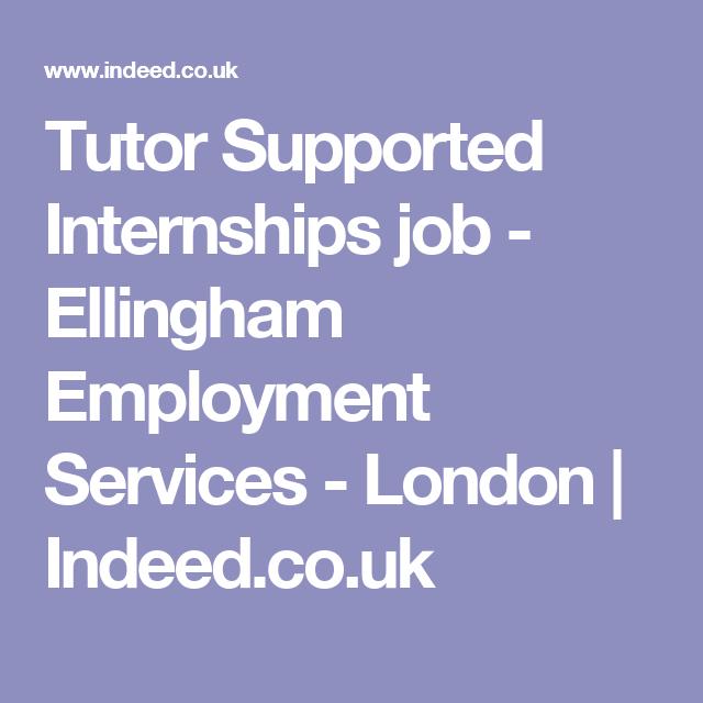 Tutor Supported Internships Job Ellingham Employment Services