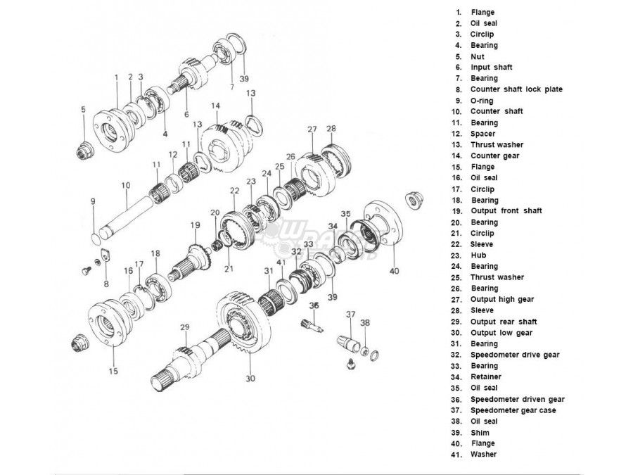 Suzuki Samurai 6.5:1 Low Range Transfer Case Gears by