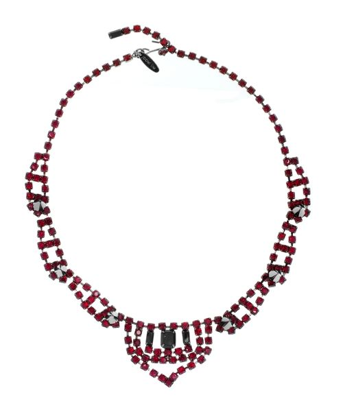 JOOMI LIM Punk Royal Crystal and Spike Necklace in Siam and Jet #Necklace #accessories