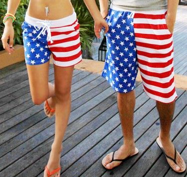 c933d67126 american flag swimming suit shorts for women | New! American Flag Beach  Shorts Men Swimwear Women Beach short Pants .