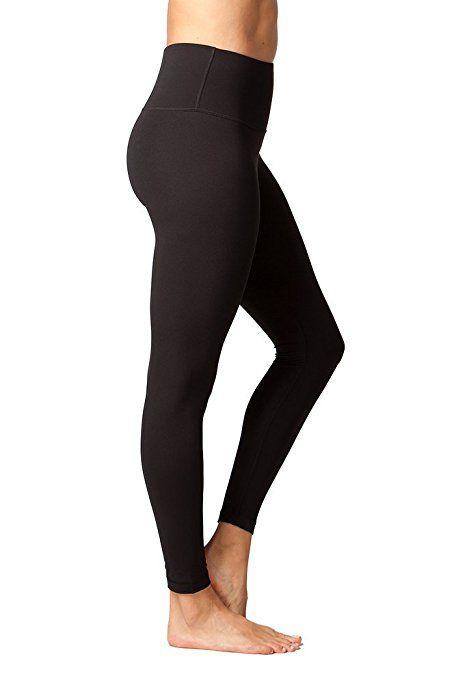 c93e1dbca1499 Yogalicious High Waist Ultra Soft Lightweight Leggings - High Rise Yoga  Pants - Black - Medium at Amazon Women's Clothing store: