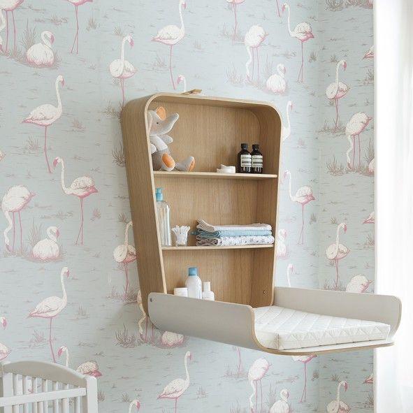 wand wickeltisch noga wenn man wenig platz in der wohnung hat und auf keinen wickeltisch. Black Bedroom Furniture Sets. Home Design Ideas