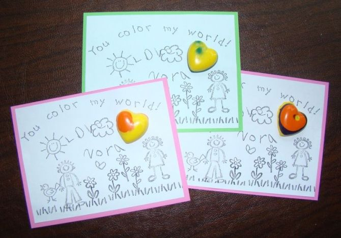Kids Table Activity Wedding Coloring Book Page With DIY Custom Made Heart Shaped Crayons