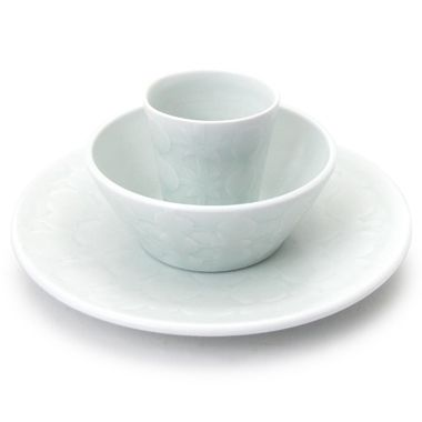Andy Shaw, Place Setting (plate, bowl, tumbler) (135), via The Clay Studio