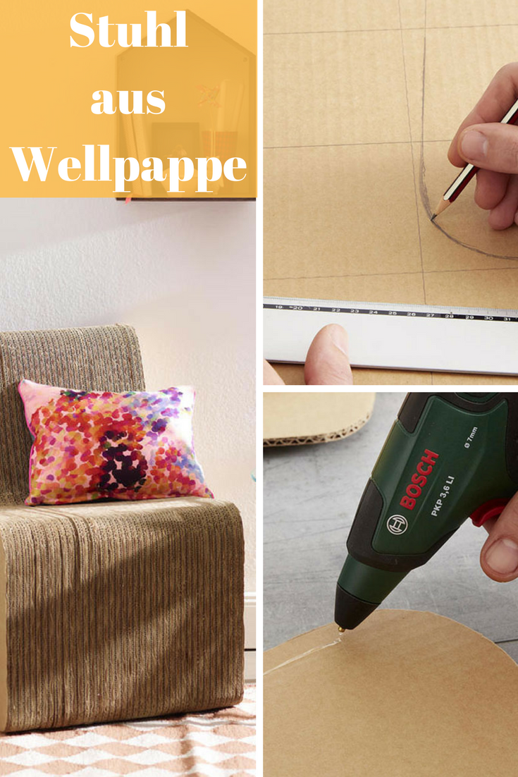 Wellpappe Möbel Stuhl Aus Wellpappe Basteln Upcycling Pinterest Upcycling