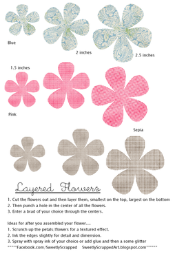 Layered Flowers Template Free Paper Flower Templates Paper