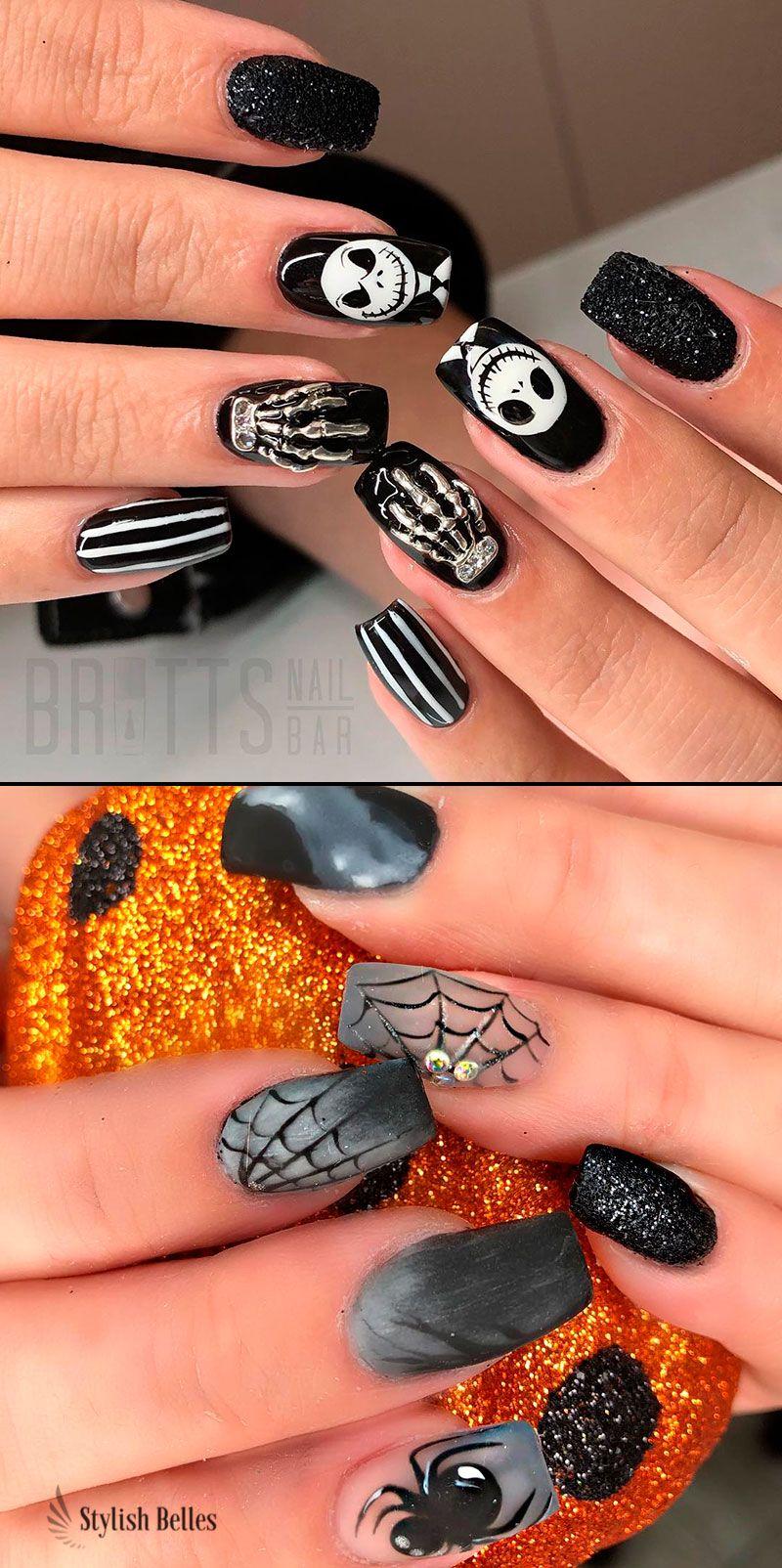 Best Halloween Nail Ideas In 2019 Halloween Nails Easy Easy Halloween Nails Design Nails