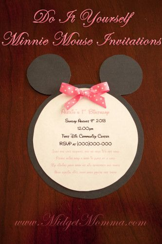 Do it yourself minnie mouse invitations perfect for a minnie mouse do it yourself minnie mouse invitations perfect for a minnie mouse birthday party and easy to solutioingenieria Choice Image