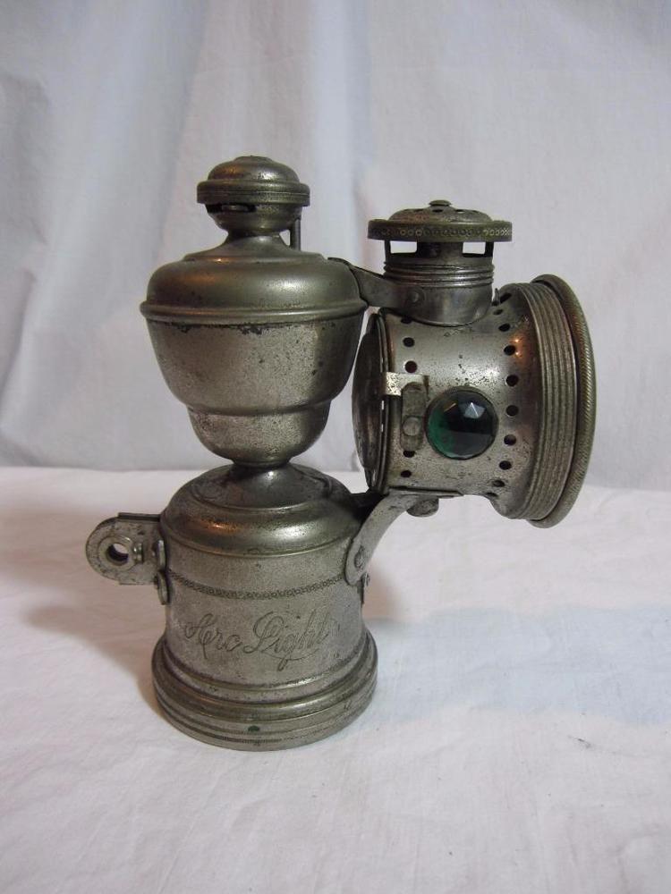 Antique Bicycle Motorcycle Lantern Arc Light Miller Manufacturing Torrington Ct Antique Bicycles Glassware Beer Steins