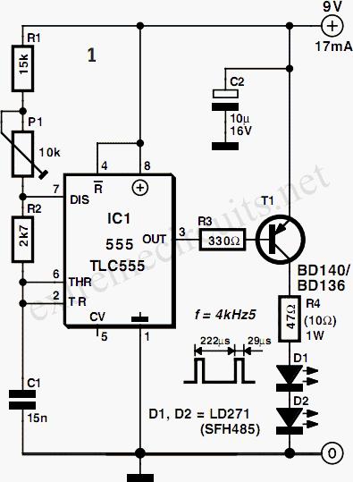 Circuito Eletronica : Barreira de infra vermelho circuitos para serem