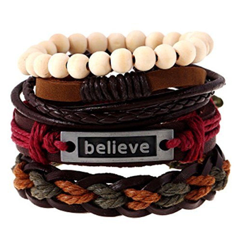 Linsh in unisex multi strands fashion handmade believe bracelets