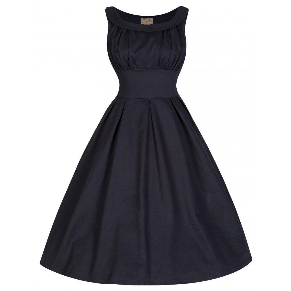 Black dress retro -  Selema Black Elegant Vintage 50 S Style Evening Dress