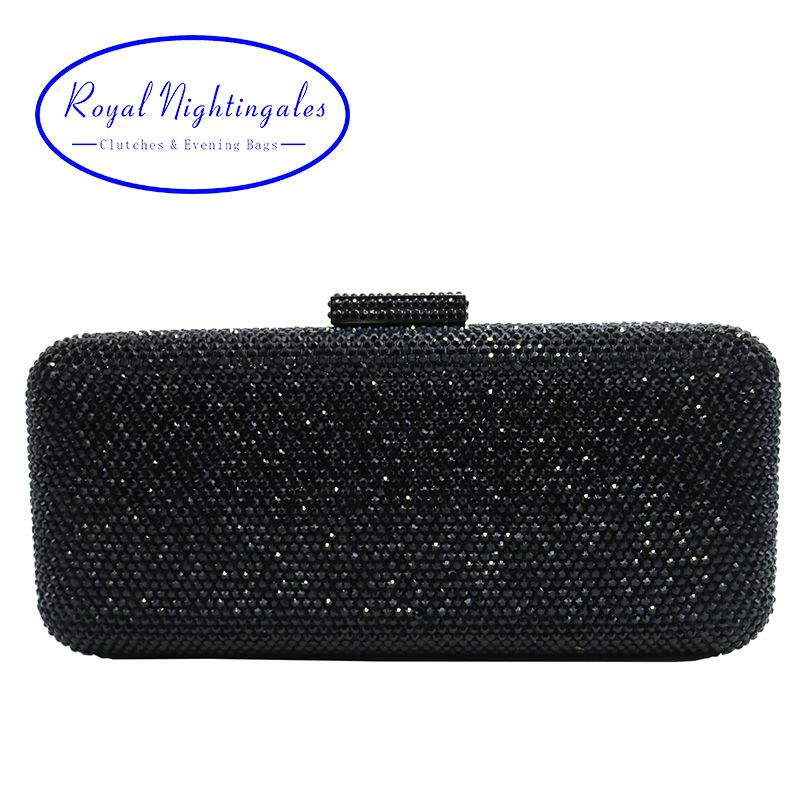 Luxury Crystal Rhinestone Evening Clutch Bags For Bridal Prom Party Box Black Bag Yesterday S Price Us 69 01 56 83 Eur