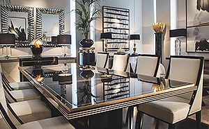 ART DECO ARCHITECTURAL DINING TABLE 1061ER