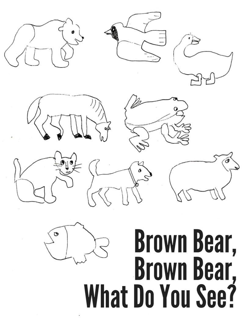 - Brown Bear, Brown Bear Coloring Sheet (With Images) Bear