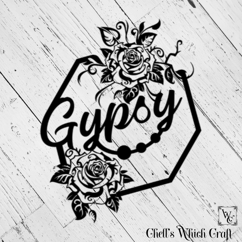 Gypsy Soul Gypsies Festival Boho Hippie Hippy Love Peace Rainbow decal Holograph Holographic 4 inch Phone Car Window Vinyl Traveler