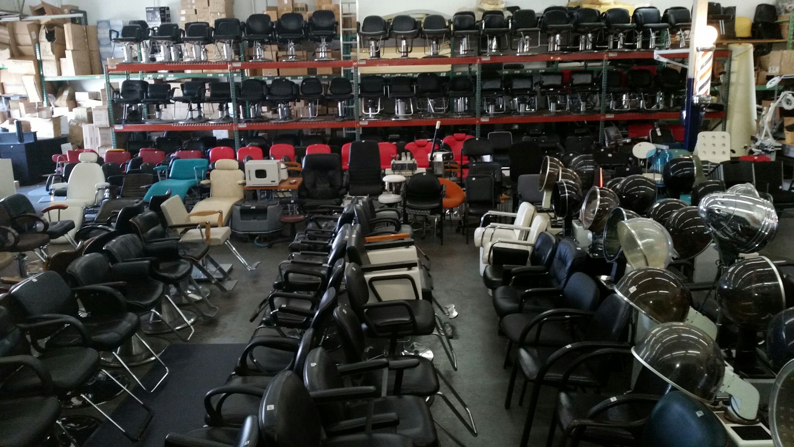 We have hundreds of used hydraulic styling chairs as well as