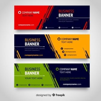 Download Flat Banners For Free Banner Shablon Flaera