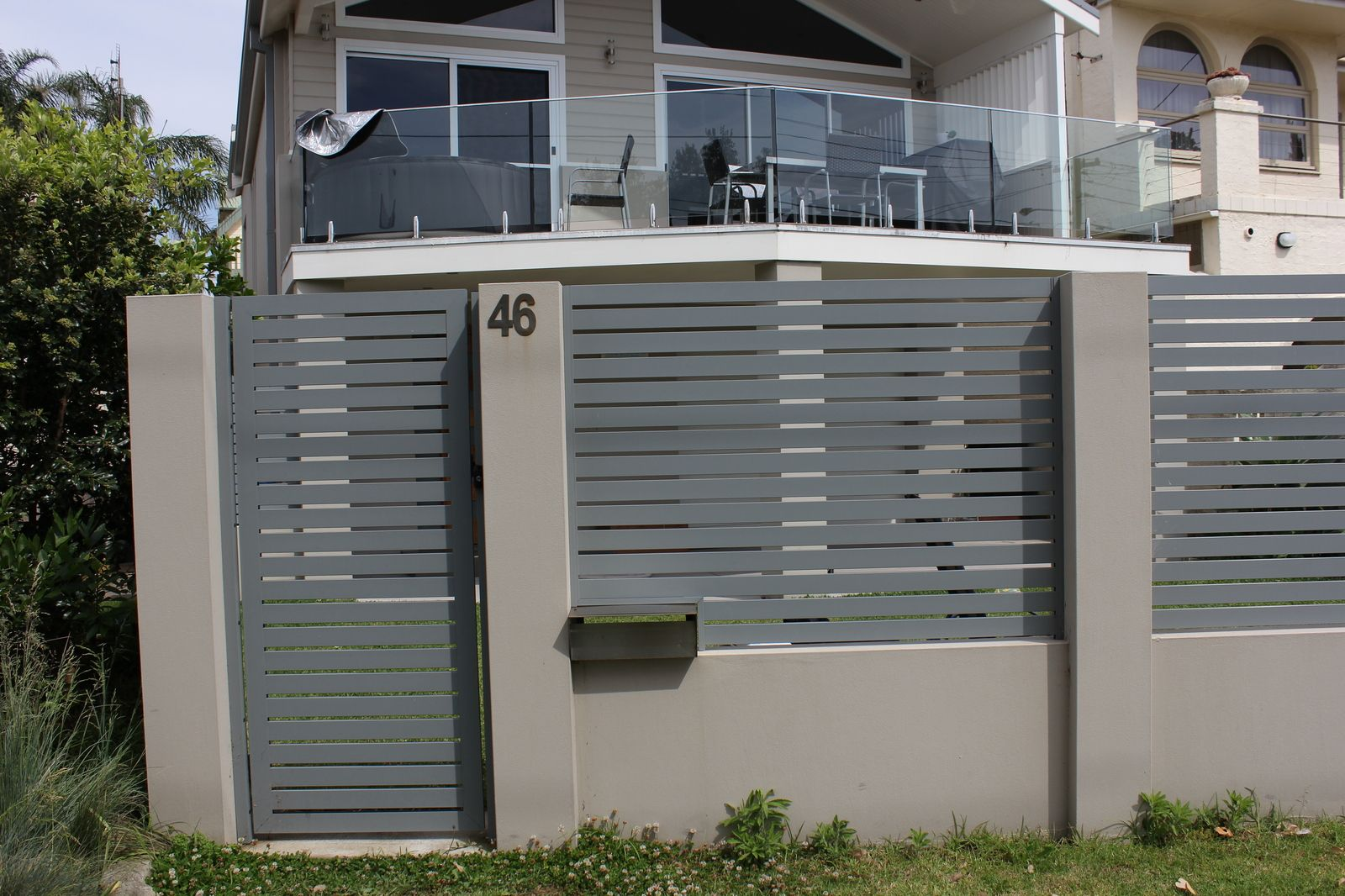 Aluminium Slat Gates Backyard Ideas Pinterest Gate