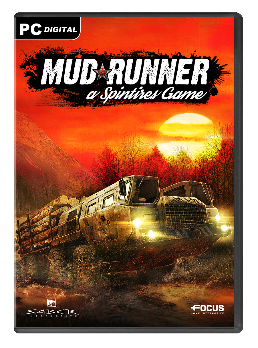 Spintires: Mudrunner Game Cover PC | Video Games | Xbox one, Xbox