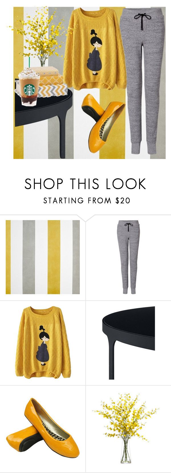 """Cozy day"" by aliroseheart ❤ liked on Polyvore featuring rag & bone, Lux-Art Silks and Imax Home"