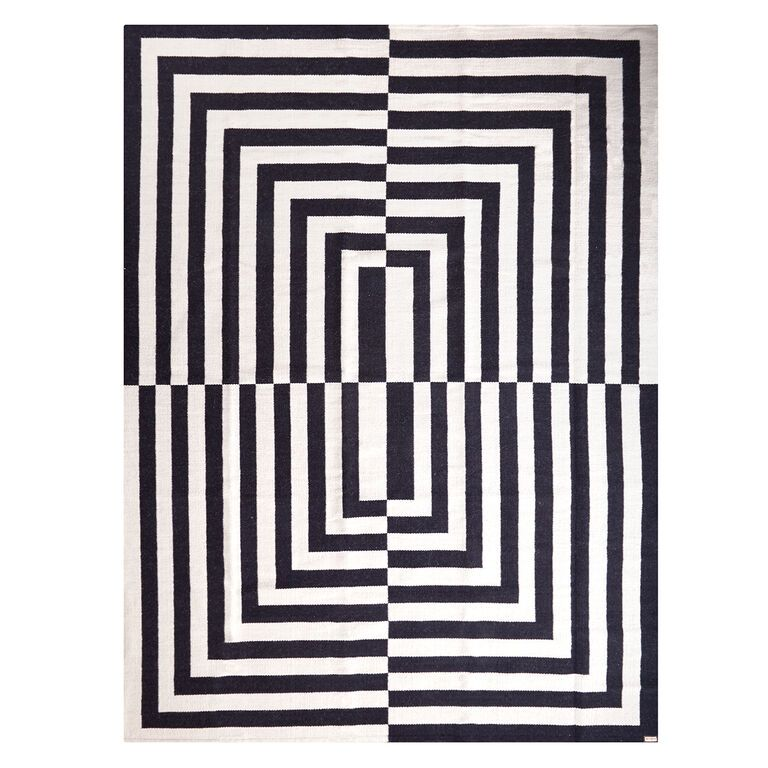 Black And White Rectangles Rug Google Search Flat Weave Rug Woven Rug Flat Weave