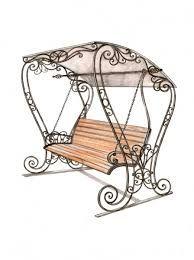 Swing Chair Penang Patio Replacement Slings Keptalalat A Kovetkezore Sadovye Kacheli Kovanye Metal Wrought Furniture Garden Swinging