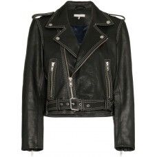 Women's Black Motorbike Short Body Leather Jacket