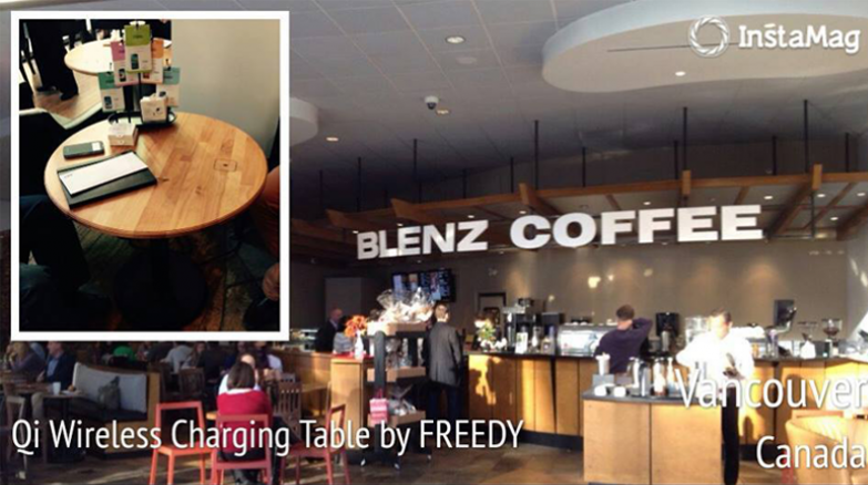 coffeetable-blenz-canada / wireless charging table / using wireless charging solution #freedy #freedywireless #wireless #wirelesscharging #wirelesscharger