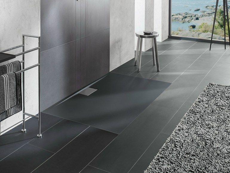 Receveur de douche l 39 italienne extraplat en acrylique architectura metalrim by villeroy - Armadietti da bagno ...