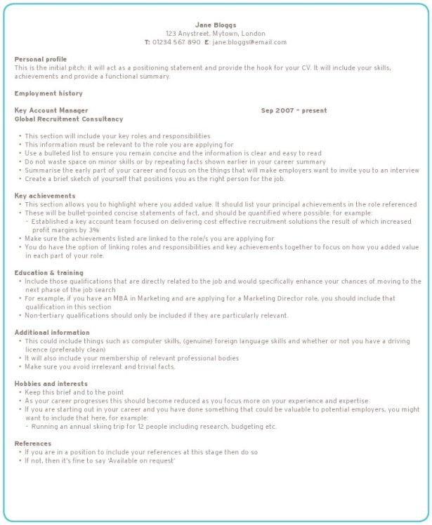 Resumes, Best College Personal Profile And How To Write The - how to write a profile resume