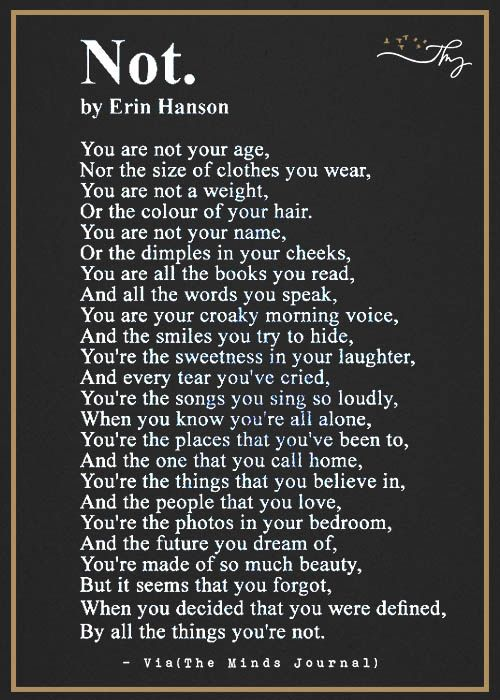 Not Quotes About Love And Relationships Erin Hanson Poems