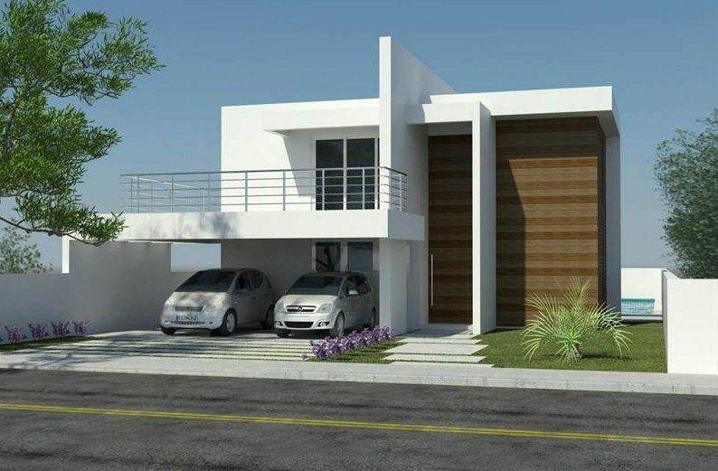 Fachadas De Casas De 2 Pisos Sencillas Y Pequenas Fachada Casa Pequena Fachada De Casa Casas Contemporaneas