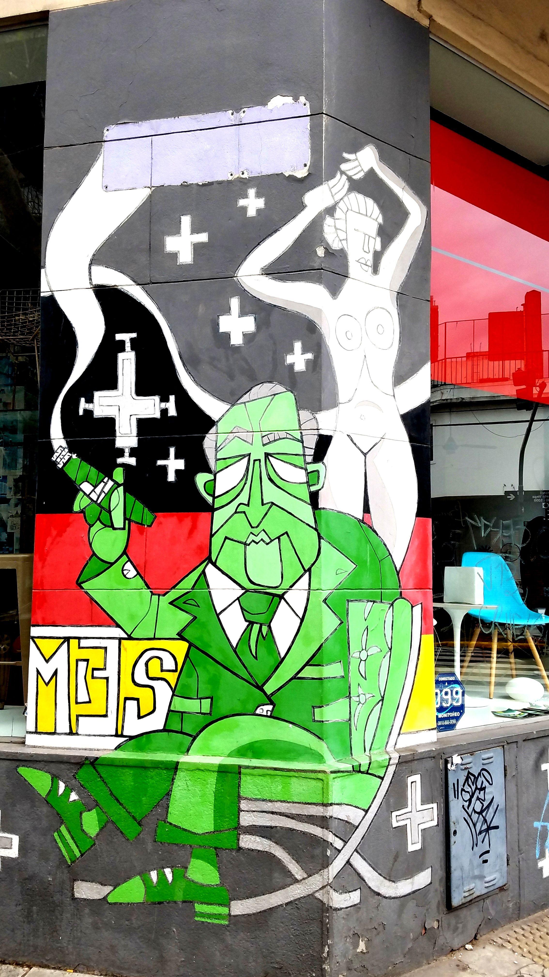 Buenos Aires Argentina Street Art Graffiti Designer Corner With Mies Van Der