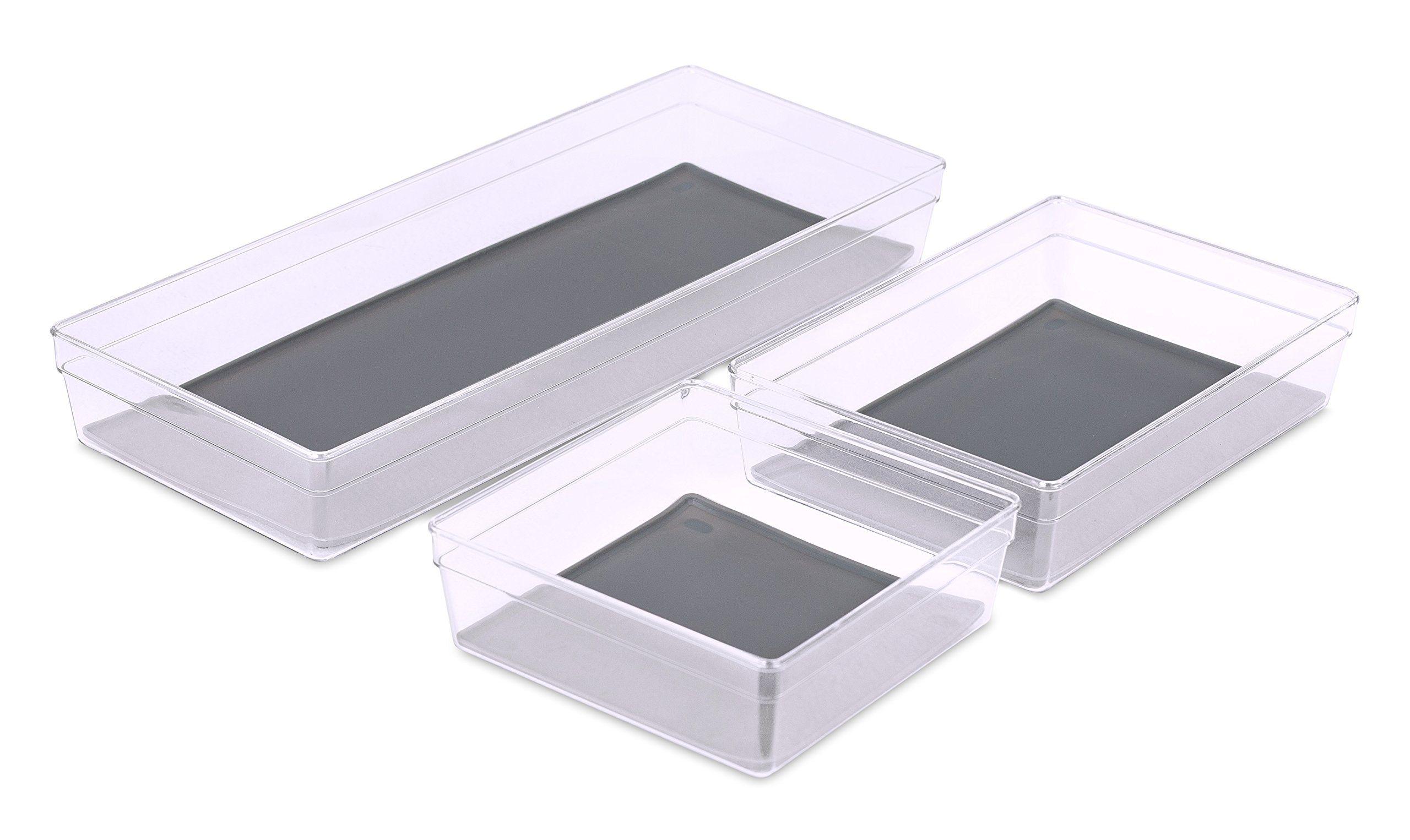 Internet S Best Kitchen Drawer Organizer Tray Set Of 3 Acrylic Plastic Storage Plastic Container Storage Kitchen Drawer Organization Small Bathroom Renovations