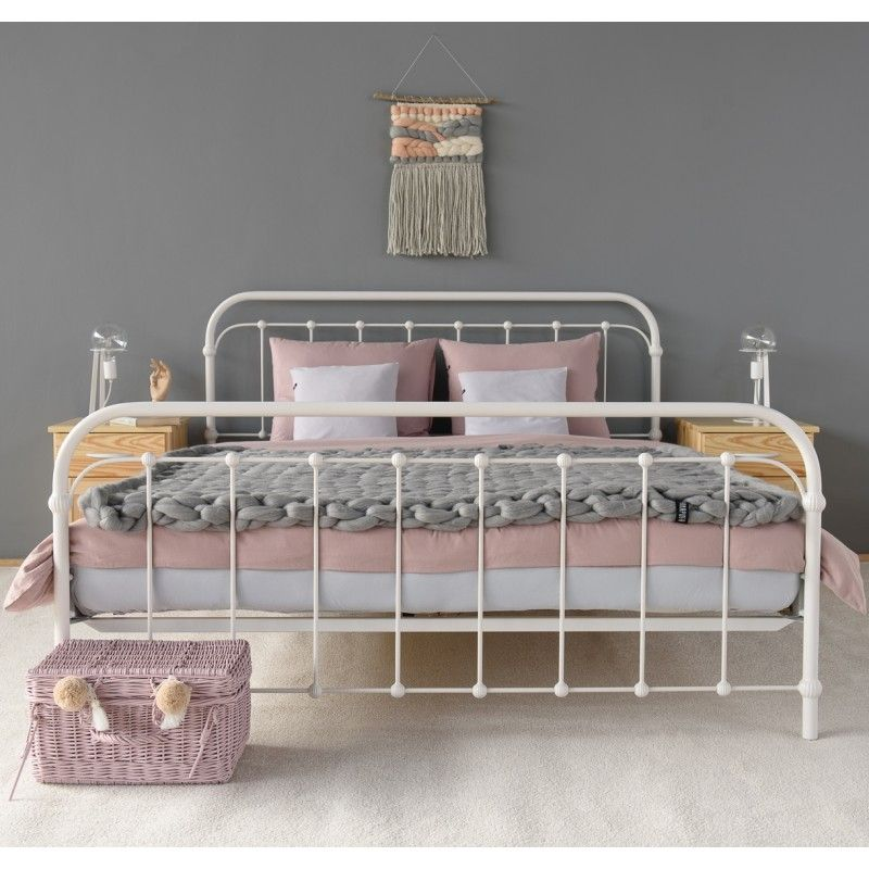 Fabulous Amita Metallbett Bett Eisenbett X Cm Wei Weiss Grau White Iron  Metal Bed Frame With Metallbett Sofa