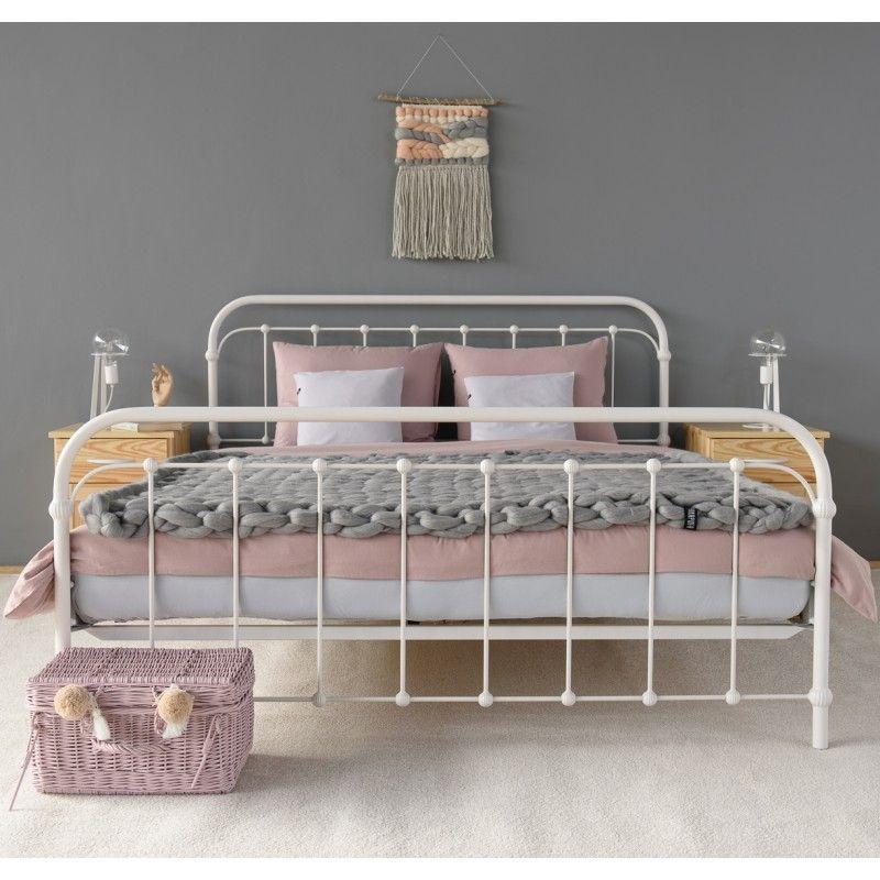 Amita Metallbett 160x200 Cm Eisenbett Bett Modern Und Metallbett Weiss