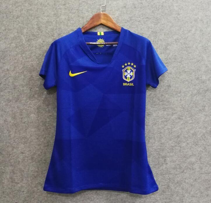 335481aaf 2018 Women Brazil Jersey Stadium Away Soccer Jersey World Cup Jersey  Fanatics