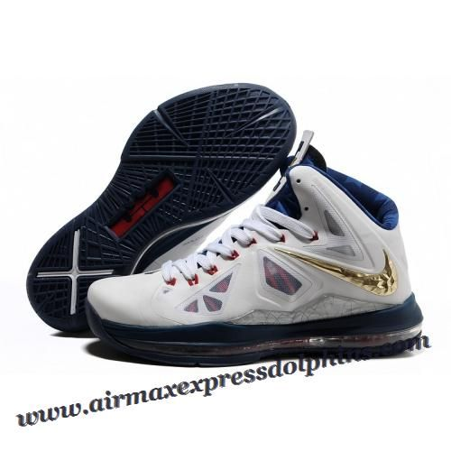 detailed look 28f51 29817 Nike Lebron X 10 2012 White Navy Gold Medal 2013